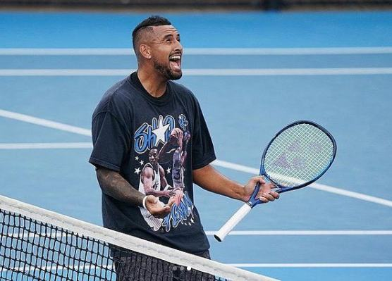 Nick Kyrgios recovers to defeat Alexandre Muller at Murray River Open