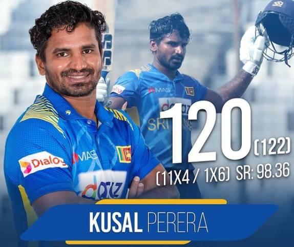 Kusal Perera's 120 sets Sri Lanka up in final ODI