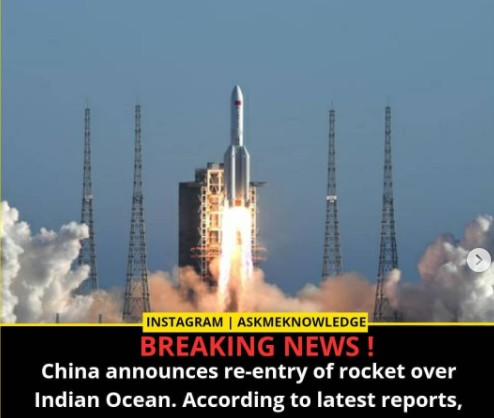 Really unpredictable': Chinese rocket hurtling back to Earth; possible debris zone spans an enormous swath of the globe
